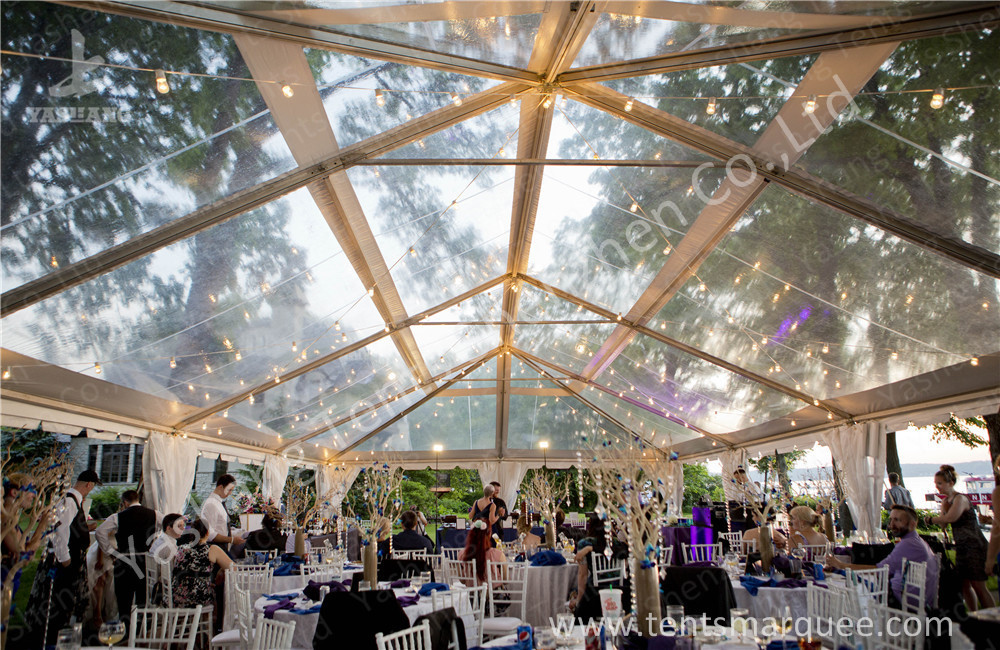Transparent Roof PVC Fabric clear canopy tent for Luxury Wedding Party