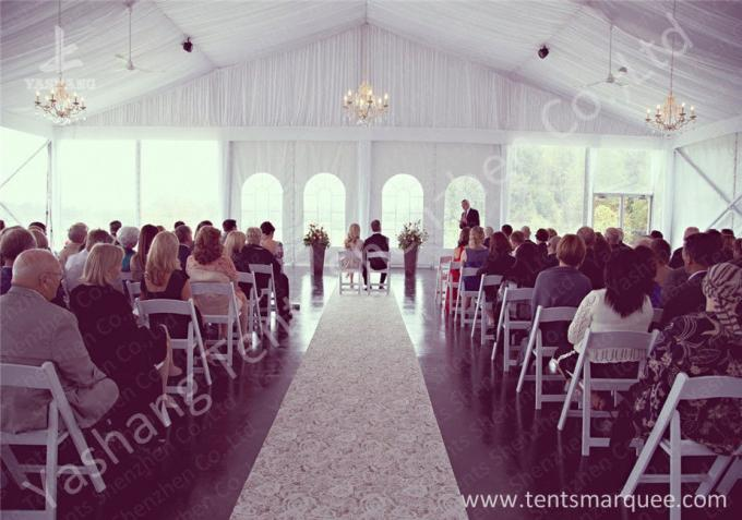 Luxury Linings and Beautiful Lightings Available for the Wedding Tents with Aluminum Frame