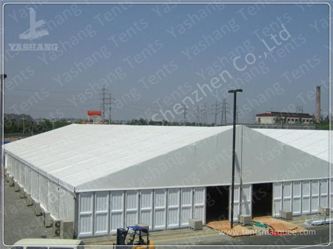 20M Width White Fabric Cover Outdoor Exhibition Tents / Outdoor Event Tent Aluminum Alloy Frofile